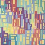 Nancy Stevens, Link, 3'x3', acrylic on hardboard