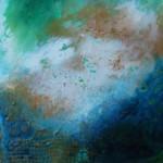 Swirling   16x16 acrylic