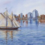 Bluenose with Halifax Skyline