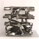 Body Building Block: Bone Tissue 2012, steel 22 cm cube