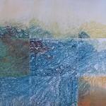 Bonnie Baker, Convergence, monoprint, multiple polymer plates, 22″x30″, 2011