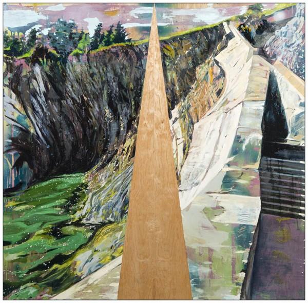Hangama Amiri, Choices, Oil and acrylic on Birch Panel, 46'' x 46'',  2013, photo by Shaun Simpson