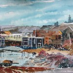 Watercolour, 58 x 38 cm, 2008. A Nova Scotia landmark site.