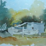 Watercolour. 24 x 19 cm, 2011. A nice loose image that works artistically for me.