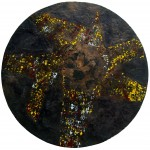 "Celestial Navigation 2011 encaustic on wood 28"" x 28"""