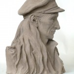 Michel Lacaille as a Sea Captain ht. 28.5 cm terracotta 2012