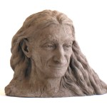 Michel Lacaille with his Hair Loose ht. 19 cm terracotta 2013