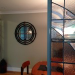Abstract Architectural Glass Triptych Room Divider 35 sq ft Glass, Lead, Copper sheet 2014
