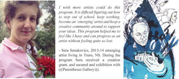 "Sera Senakovicz, image:  Zosienka Patron Saint of Lost Causes, Silkscreen, 22""x30"" 2014"
