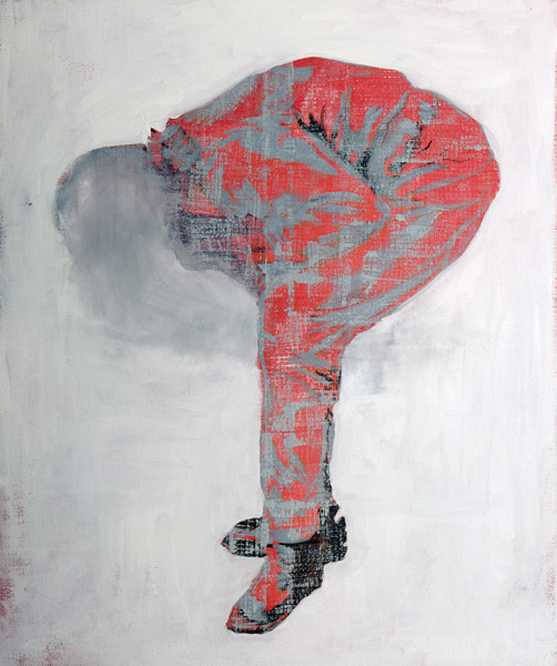 "Alice MacLean, ""Crouching Figure 2"", oil on canvas, 3' x 2', 2011"