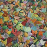 "Autumn Fantasy, Watercolour/Mixed Media, 26"" x 38"""