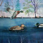 "Open Water, Watercolour, 20"" x 28"""