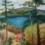 "Highland Vista, Watercolour, 11"" x 14"", 2015"