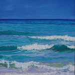 Caribbean Turquoise Oil on gallery canvas. Painted from photographs taken on a wonderful holiday in Cuba.