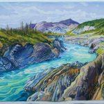 Firth Rapids, NT - watercolour