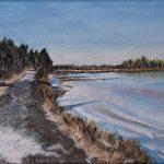 Salt Marsh Trail, 9x12, acrylics on canvas