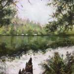 """""""Forest Lake"""" acrylic on canvas, 24"""" x 36"""", 2018. Jack Ross"""