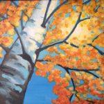 Autumn Birch    12 x 16 acrylic